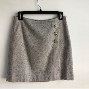 The Limited Faux Wool Blend Wrap Skirt